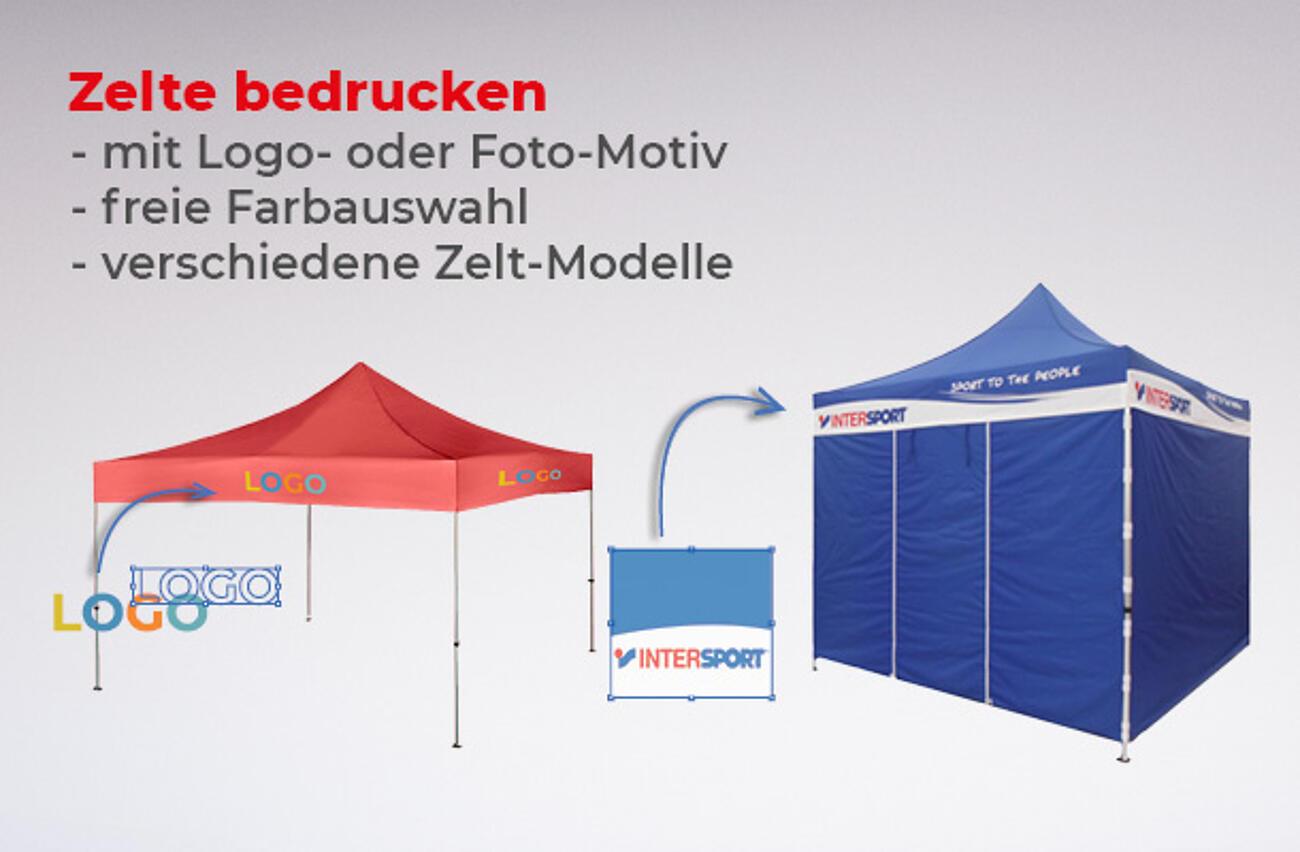Zelte bedrucken lassen