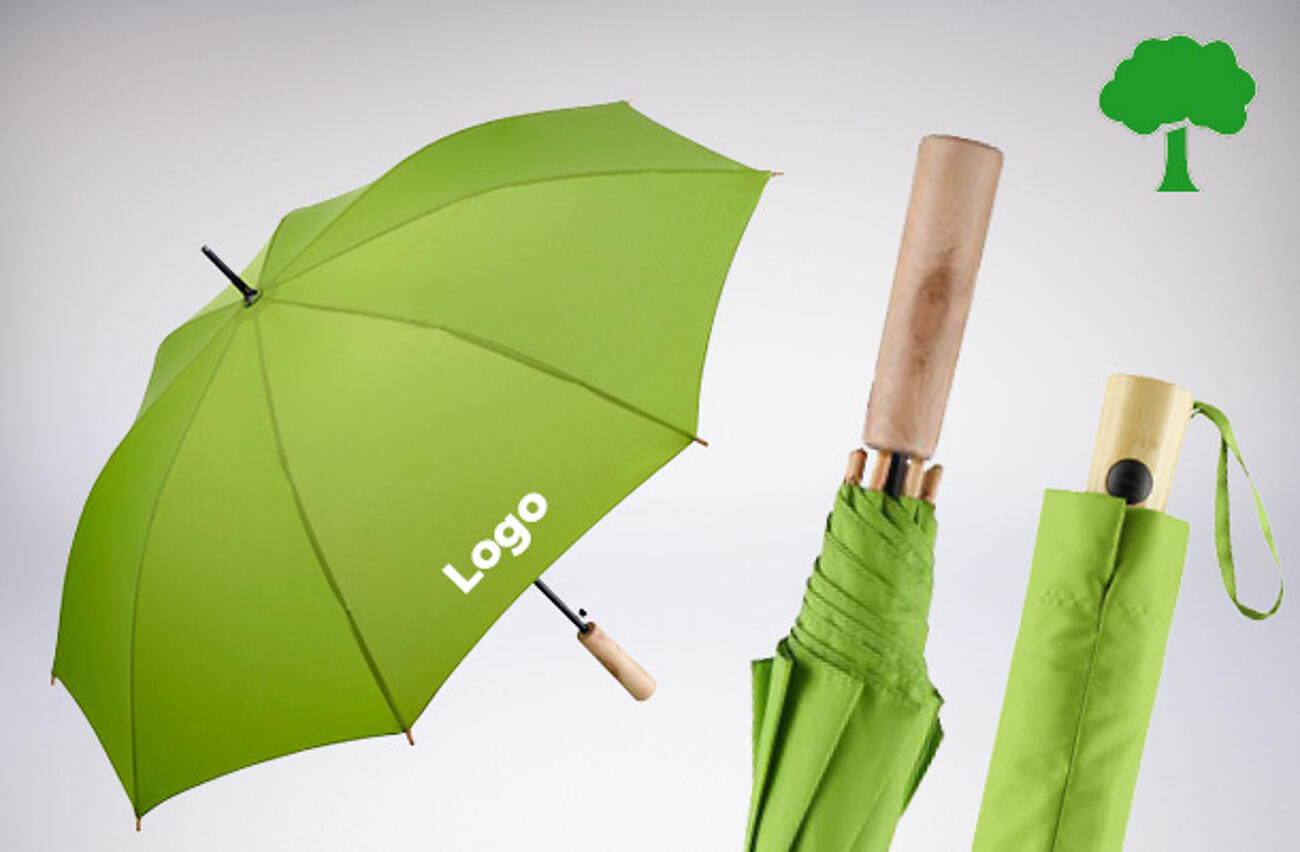 Öko-Regenschirme bedrucken