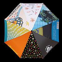 Druckbeispiele auf Regenschirm
