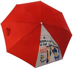 Sublimación en un paraguas