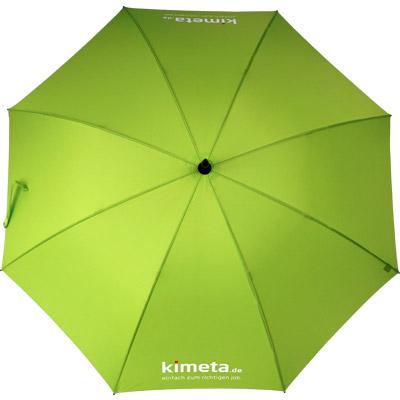 Regenschirm mit limettem Bezug