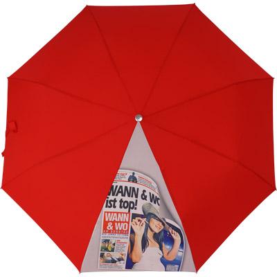 Regenschirm - ein Segment mit Fotodruck